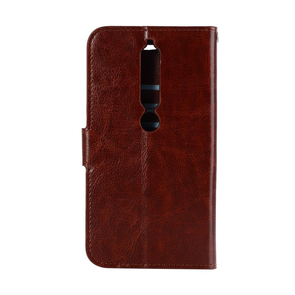 Image of Nokia 6 (2018) inCover PU Læder Flip Cover m. Stand og Kortholder - Brun