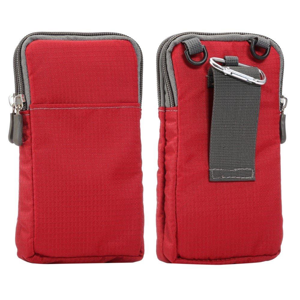 Billede af Bæltetaske Til Smartphones m. Karabinhage & Strop - Rød