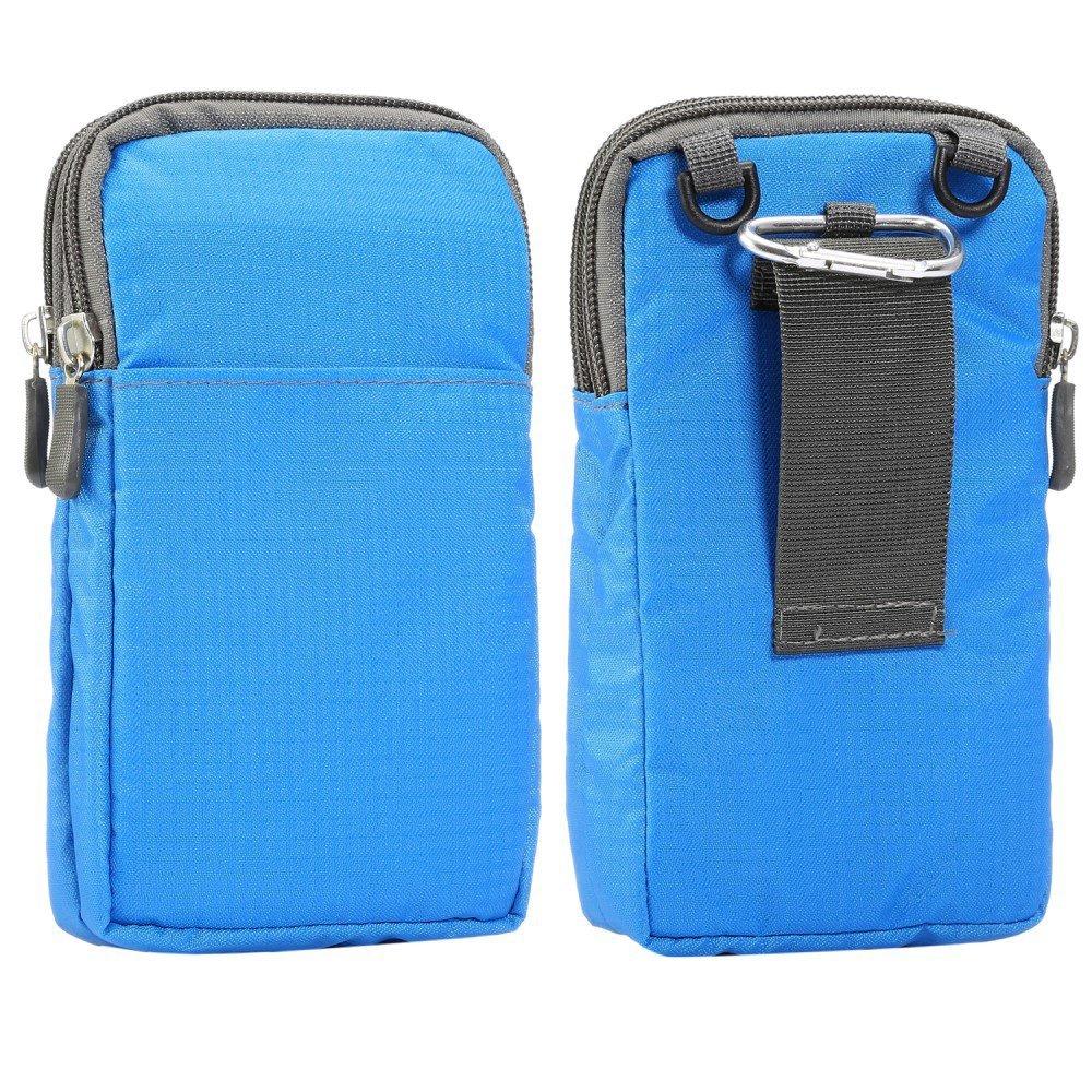 Billede af Bæltetaske Til Smartphones m. Karabinhage & Strop - Blå