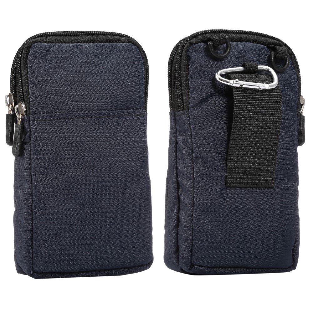 Billede af Bæltetaske Til Smartphones m. Karabinhage & Strop - Mørkeblå