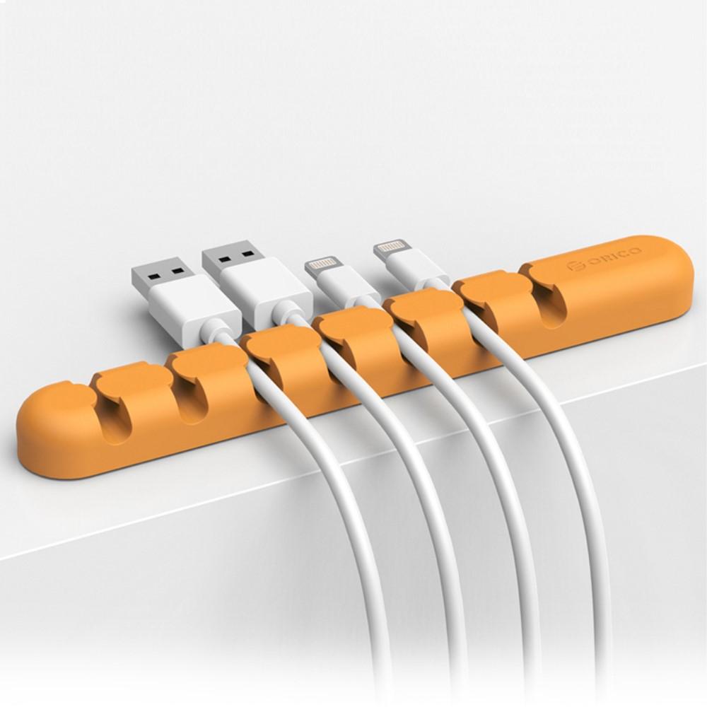 Image of ORICO Silikone Kabelholder - Orange
