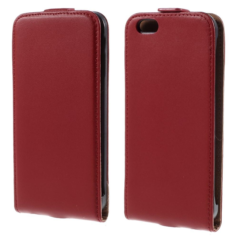 Image of   iPhone 6/6s Premium Vertikal Flip Cover - Rød