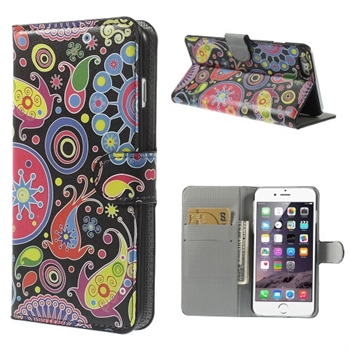 Image of Apple iPhone 6/6s Plus Design Flip Cover Med Pung - Paisley Flowers