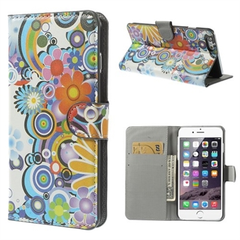 Image of Apple iPhone 6/6s Plus Design Flip Cover Med Pung - Flower Power
