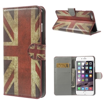 Image of   Apple iPhone 6/6s Plus Design Flip Cover Med Pung - Union Jack