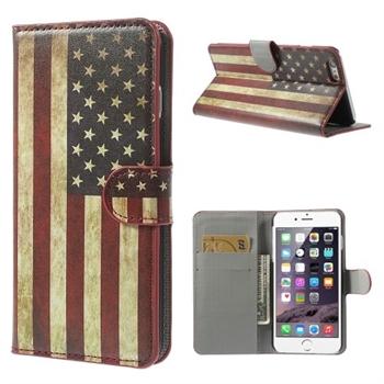 Billede af Apple iPhone 6/6s Plus Design Flip Cover Med Pung - Stars & Stripes