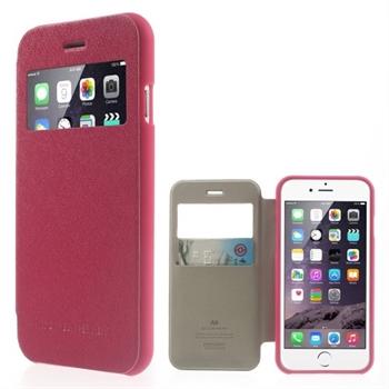 Billede af Apple iPhone 6/6s Bumper Læder Look Med Kortholder - Rosa