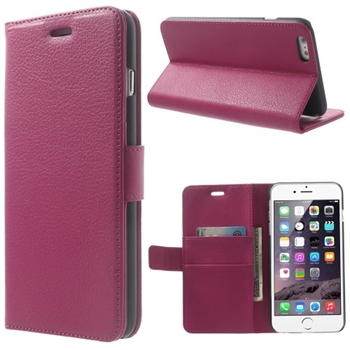 Image of   Apple iPhone 6/6s Plus Deluxe Flip Cover Med Pung - Rosa