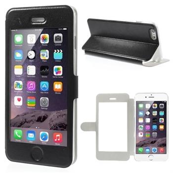 Apple iPhone 6/6s Plus Full Window Flip Cover - Sort