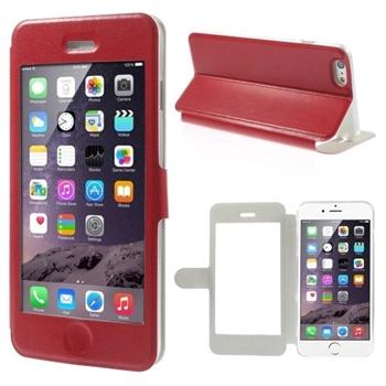 Image of   Apple iPhone 6/6s Plus Full Window Flip Cover - Rød