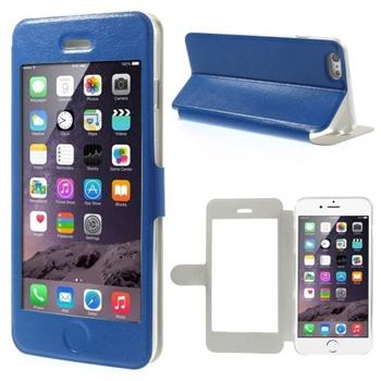 Image of   Apple iPhone 6/6s Plus Full Window Flip Cover - Blå