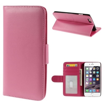Image of   Apple iPhone 6/6s Plus Lux Flip Cover Med Pung - Rosa