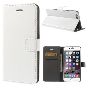 Image of   Apple iPhone 6/6s Plus Stylish Flip Cover Med Pung - Hvid