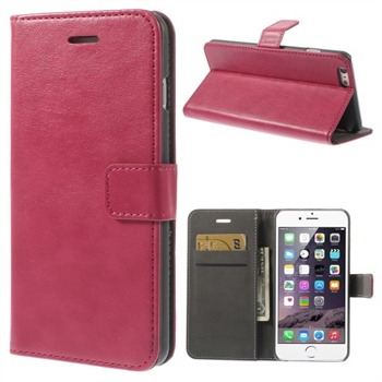 Image of   Apple iPhone 6/6s Plus Stylish Flip Cover Med Pung - Rosa