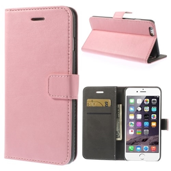 Image of   Apple iPhone 6/6s Plus Stylish Flip Cover Med Pung - Pink
