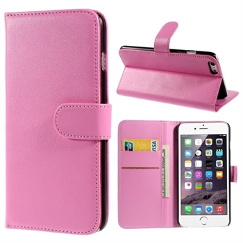 Image of   Apple iPhone 6/6s Plus Smooth Flip Cover Med Pung - Pink