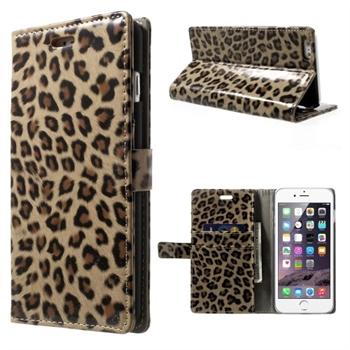 Image of   Apple iPhone 6/6s Plus Design Flip Cover Med Pung - Brown Leopard