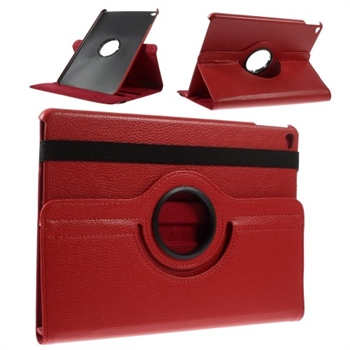 Billede af Apple iPad Air 2 Rotating Litchi Smart Cover Stand - Rød