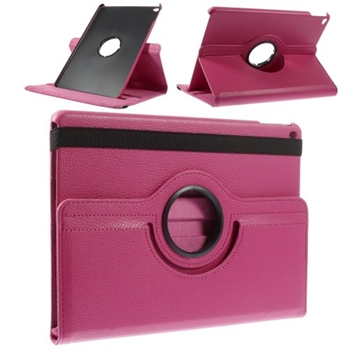 Image of   Apple iPad Air 2 Rotating Litchi Smart Cover Stand - Rosa
