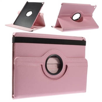 Image of   Apple iPad Air 2 Rotating Litchi Smart Cover Stand - Pink