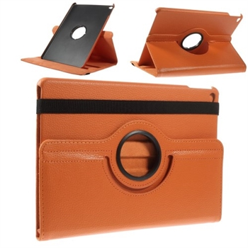 Image of   Apple iPad Air 2 Rotating Litchi Smart Cover Stand - Orange