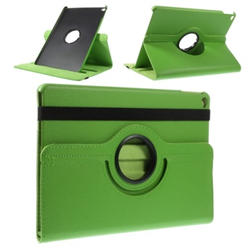 Image of   Apple iPad Air 2 Rotating Litchi Smart Cover Stand - Grøn