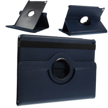 Billede af Apple iPad Air 2 Rotating Litchi Smart Cover Stand - Mørk Blå
