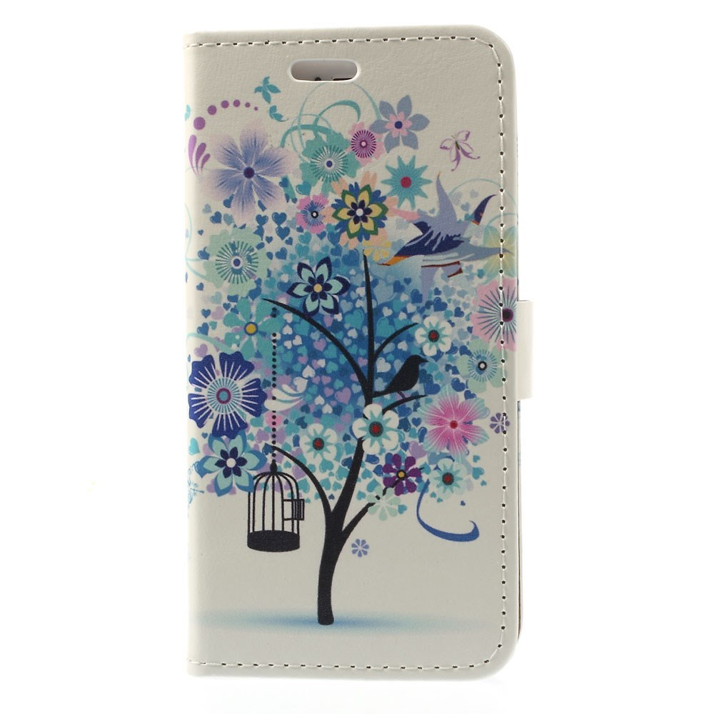 Image of   iPhone 6/6s Læder Flip Cover m. Stand - Blue Tree