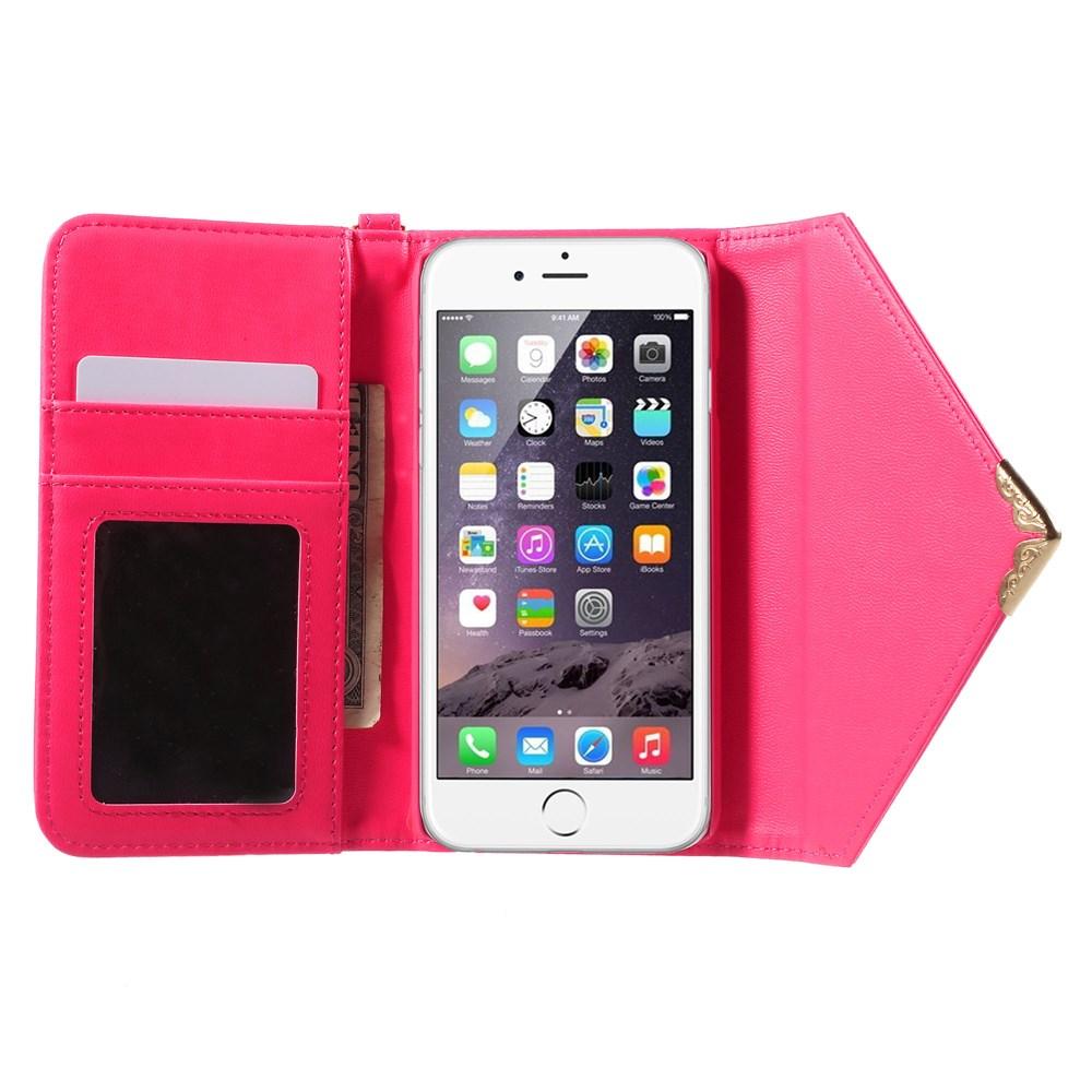Billede af Smart Flip Pung/Cover i Læder til iPhone 6/6s - Rosa