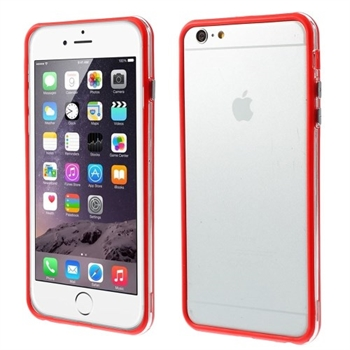 Image of   Apple iPhone 6/6s Plus inCover Gummi Bumper - Rød