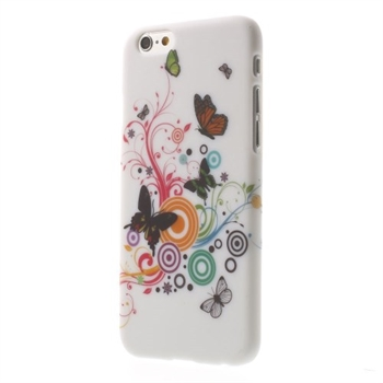 Image of   Apple iPhone 6/6s inCover Design Plastik Cover - Vivid Butterfly