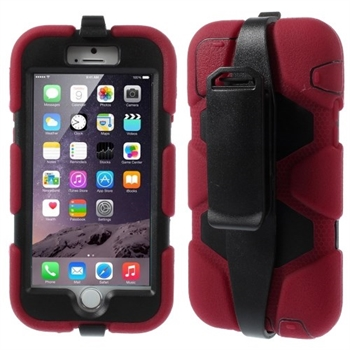 Image of   Apple iPhone 6/6s Heavy Duty Cover - Rød