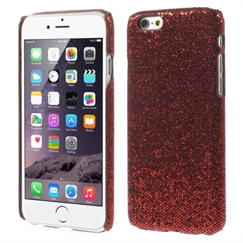 Image of   Apple iPhone 6/6s Design Plastik Cover - Glitter Rød