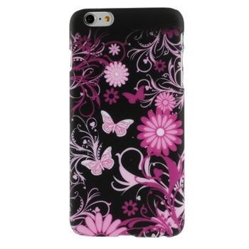 Image of   Apple iPhone 6/6s Plus inCover Design Plastik Cover - Butterfly & Flowers