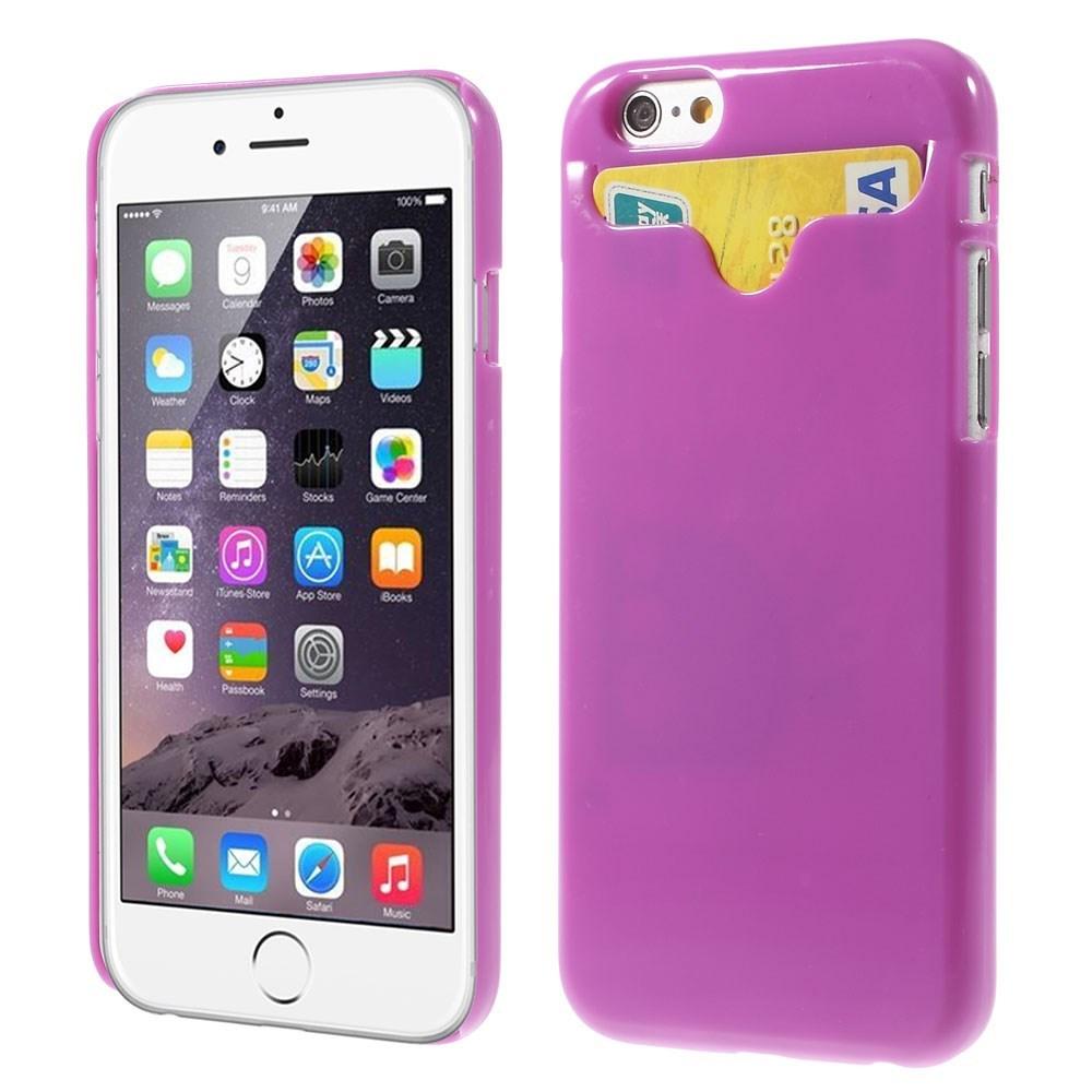 Image of   Apple iPhone 6/6s Plastik Cover Med Kreditkortholder - Lilla