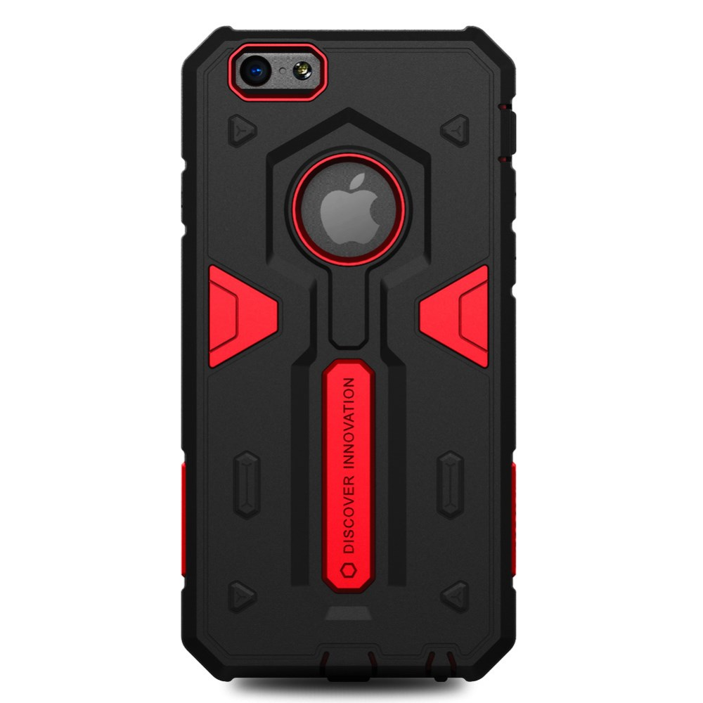 NILLKIN Defender II Heavy Duty Cover til iPhone 6/6s - Rød