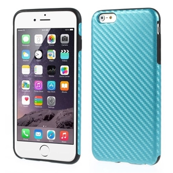 Image of   Apple iPhone 6/6s Plus inCover Design TPU Cover - Carbon Lys Blå