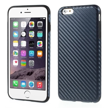 Image of   Apple iPhone 6/6s Plus inCover Design TPU Cover - Carbon Mørk Blå