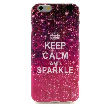 Billede af Apple iPhone 6/6s inCover Design TPU Cover - Keep Calm & Sparkle