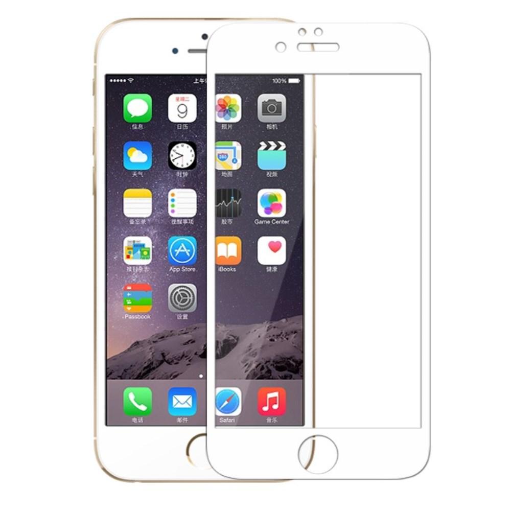 Image of InCover Full-Size Hærdet Glas til iPhone 6/6s - Hvid