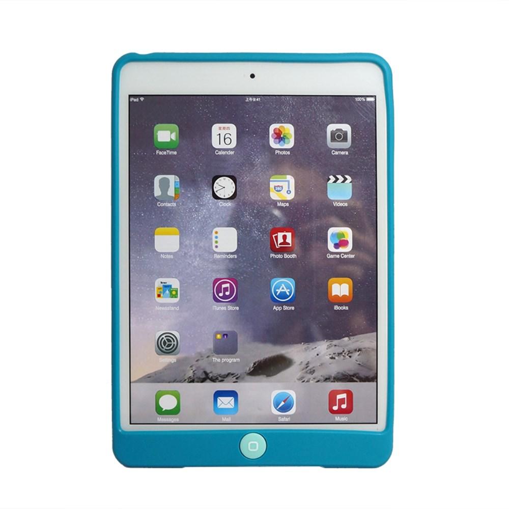 Billede af Apple iPad Mini 4 inCover Silikone Cover m. Homeknap Beskyttelse - Turkis