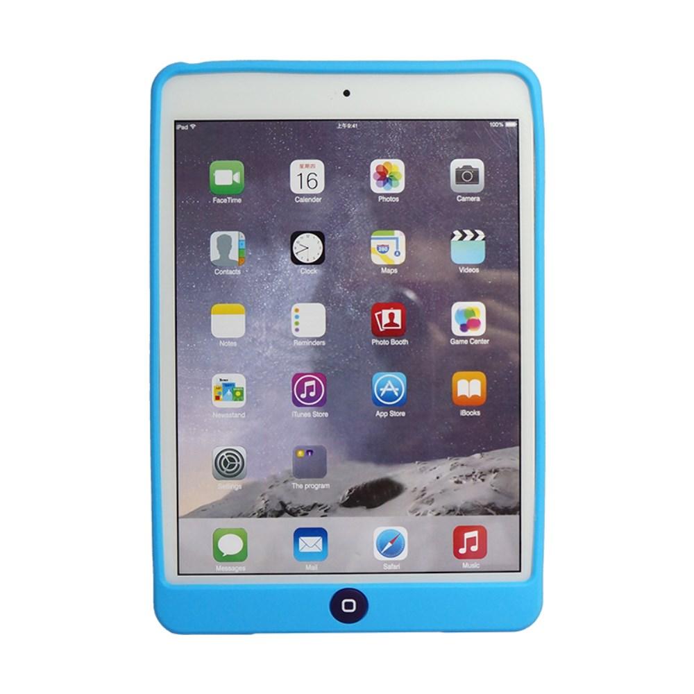 Billede af Apple iPad Mini 4 inCover Silikone Cover m. Homeknap Beskyttelse - Blå
