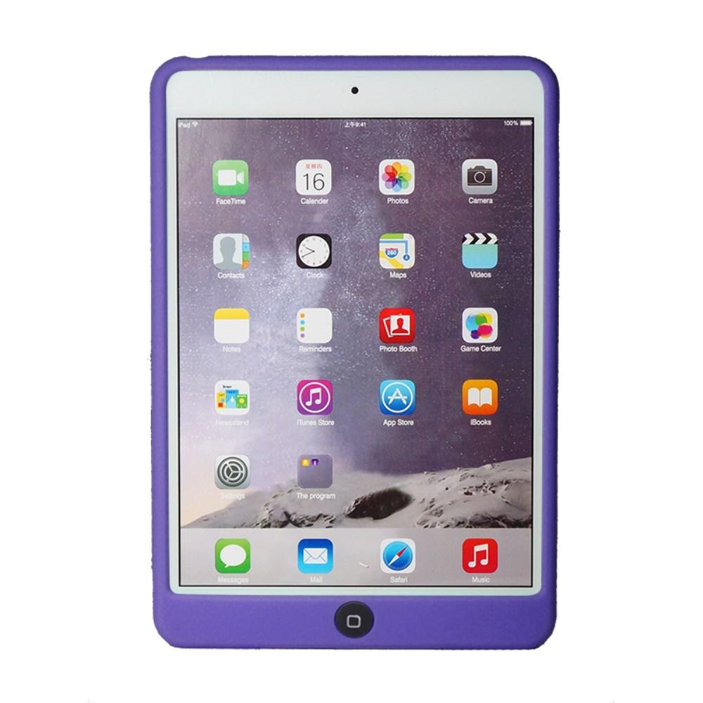 Billede af Apple iPad Mini 4 inCover Silikone Cover m. Homeknap Beskyttelse - Lilla
