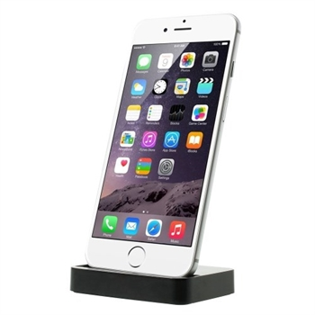 Apple iPhone 6/6s/7 Plus Slim Dock & Bordlader - Sort