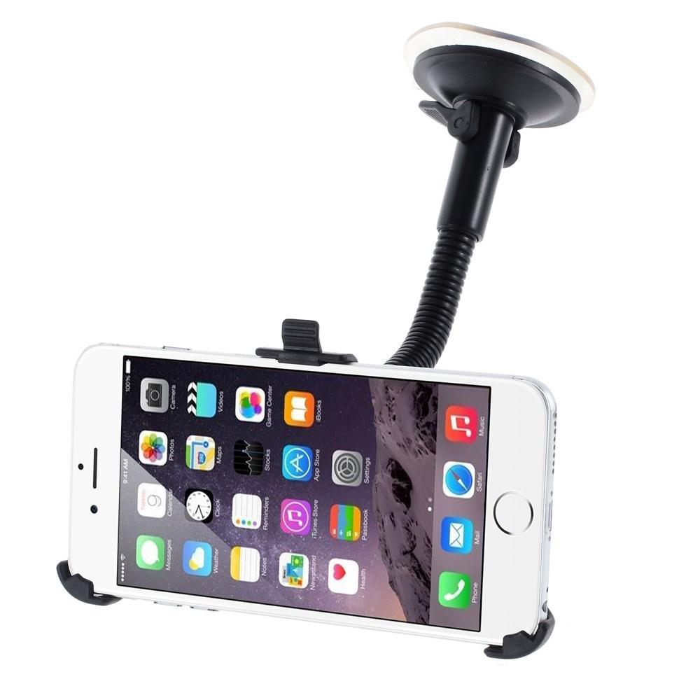 Image of   Apple iPhone 6/6s Plus Bilholder m. Sugekop