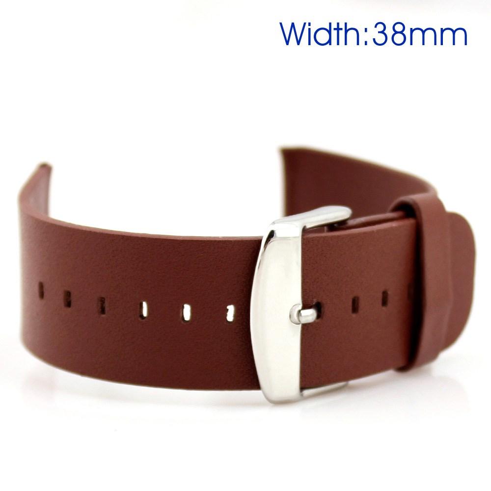 Image of Apple Watch Læderrem i ægte læder - Brun (38mm)