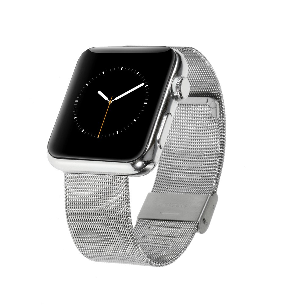 Image of   Apple Watch 38mm Mesh Metal Rem - Sølv