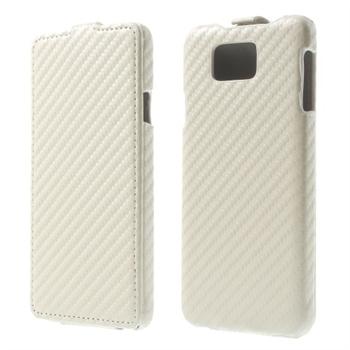 Billede af Samsung Galaxy Alpha Carbon Flip Cover - Hvid
