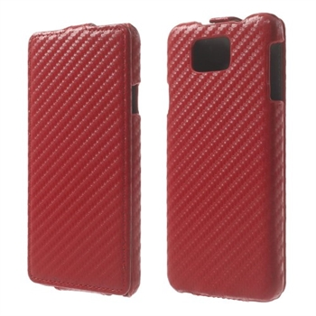 Billede af Samsung Galaxy Alpha Carbon Flip Cover - Rød