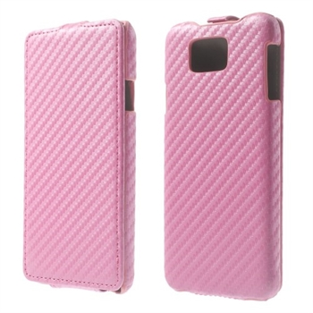 Image of Samsung Galaxy Alpha Carbon Flip Cover - Pink